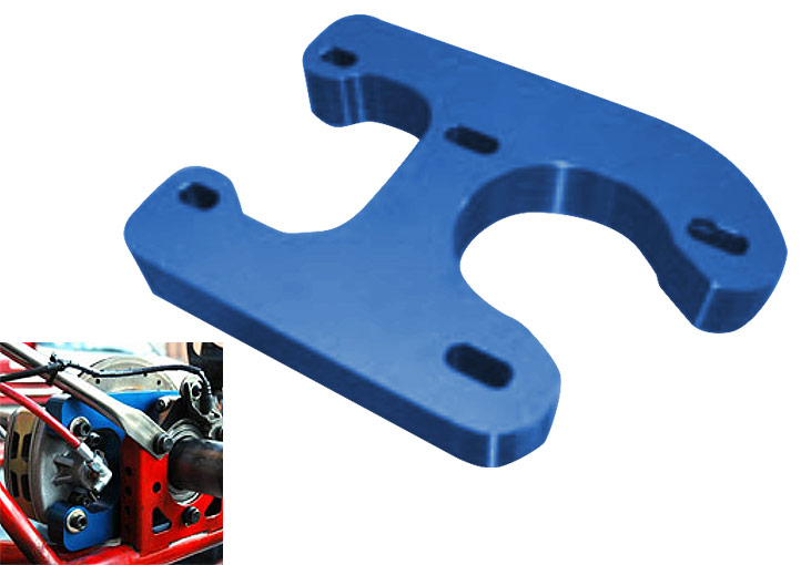 Brake adapter for racing cart