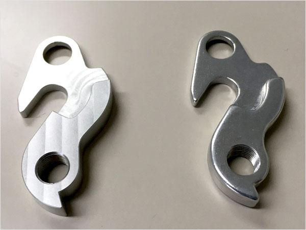 (左)ワンオフ製作パーツ (右)現状部品